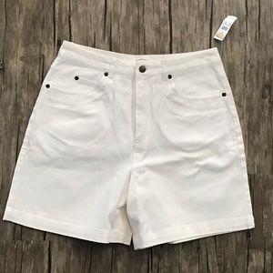 Talbots High Waisted White Jean Shorts NWT